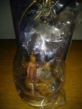 Collecible Fontanini Blown Glass Ornament 56183 Two Angels & Baby Jesus W/Box
