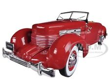 1937 CORD 812 CONVERTIBLE RED ROAD & TRACK COVER CAR 1/18 BY AUTOWORLD AMM1014