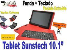 """FUNDA CON TECLADO TABLET SUNSTECH TAB 10.1""""  fundas TECLADO EXTRAIBLE"""