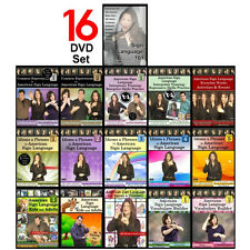 16-DVD Complete American Sign Language Training Set (16 DVDs) NEW