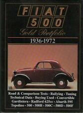 Fiat 500 Gold portfolio 1936-1972 - R.M Clarke - Brooklands Books