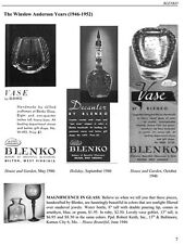 Blenko Glass 1936-1969-History & Reprint Advertisements