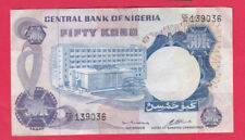 NIGERIA - 50 Kobo Banknote 1973 ISSUE a/XF RARE Signatures Pick#14b - LOOK!
