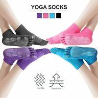 Yoga Socks Non Slip Pilates Massage 5 Toe Socks With Grip Exercise Gym Trampolin