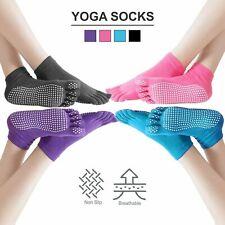 Yoga Socks Non Slip Pilates Massage 5 Toe Socks with Grip Exercise Gym 4 Colours