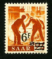 Saar Stamps # 233i VF OG NH Offset