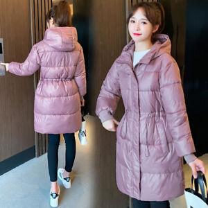 Women Coat Winter Coat Down Cotton Jacket Hooded Long Ladies Coat Parka Outwear