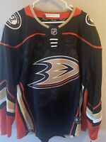 Anaheim Ducks Team Signed Home Jersey Large
