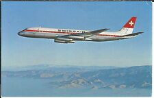 AY-372 - Swiss Air DC-8-62 Aircraft Two 1950's to 1960's Modern Chrome Postcards