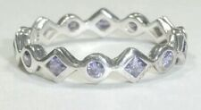 Silpada Purple Possibilities Sterling Silver Stack Ring Size 9