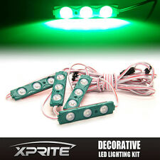 Xprite 4PC 12 LED Strip Pod Panel 4X4 Off Road Jeep Under Body Rock Lights Green