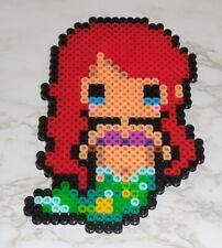 : Perler Pixel Bead Art - Ariel mermaid princess Disney magnet handmade
