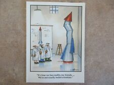 """Vintage """"The FAR SIDE"""" 1993 Greeting Card """"We're Not Exactly Rocket Scientists"""""""