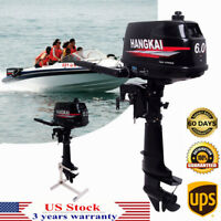 2Stroke 6HP Outboard Engine Fishing Boat Motor Short Shaft Water Cool CDI System
