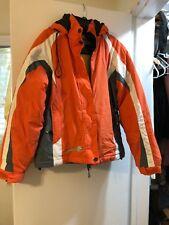Orange Rossignol Ski Jacket Size S/M With Zipper Hood