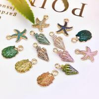 Wholesale 13Pcs Metal Conch Sea Shell Pendant DIY Charms Handmade Jewel Bulk Lot
