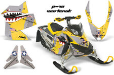 Snowmobile Graphics Kit Sled Decal Wrap For Ski-Doo Rev XP 2008-2012 WARHAWK YLW