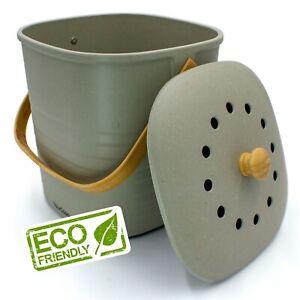 YourCasa® Komposteimer mit Deckel - 6L - für alltäglichen Biomüll in der Küche