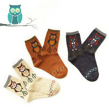 3 Pairs Ladies Womens Cotton Socks Cute Animal Fashion Ankle Scoks,Size 3-6