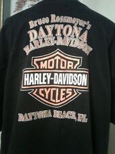 Harley Davidson Size 2X Mens T Shirt Rossmeyer Daytona Beach FL Barbed Wire