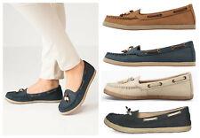 UGG BNIB £70 SUZETTE CHIVON Women Leather Nubuck Pump Loafers Moccasin Shoes