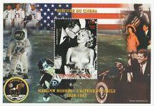 MARILYN MONROE STORIA DEL CINEMA JFK APOLLO 11 Niger 1999 MNH STAMP SHEETLET