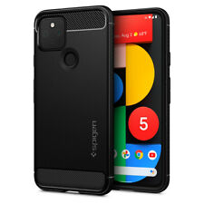 Google Pixel 4a 5G Pixel 5 Case | Spigen®[Rugged Armor] Protective Cover Black