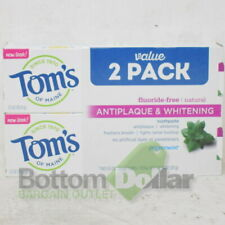 Tom's Of Maine 2 Pack Antiplaque And Whitening Toothpaste Pepperment Exp: 6/21