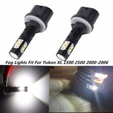 Pair 100W Fog Lights For 2000-2006 GMC Yukon XL 1500 2500 6000K White LED Bulb