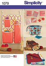 SIMPLICITY SEWING PATTERN  Knitting & Crochet Storage Accessories ONE SIZE 1079