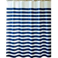 Blue&White Stripe Bathroom Fabric Shower Curtain - Waterproof and Polyester