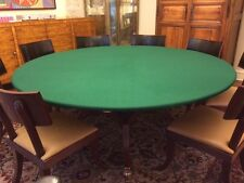 "GREEN VELVET Poker Tablecloth BEST FELT cover UPGRADE fits  60"" ROUND ship free"