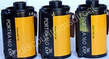 3 x Kodak  Portra 160 35mm 36 exposure Cheap Colour Print  Film - 1st CLASS POST