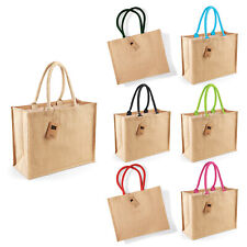 Westford Mill Jute Classic Shopper (W407) - Ladies Tote Natural Handbag