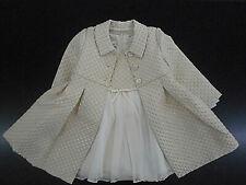Toddler Girls Bonnie Jean Gold & Pink Dress Coat & Dress 2PC Set Sizes 2T -4T