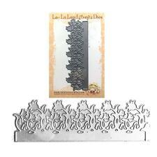 Flowers Tulip Border Metal Die Cut La-La Land Cutting Dies 8013