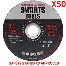 "Cutting Discs 5"" Wheels Thin Angle Grinder Metal Steel Strip - 50 X 125mm"