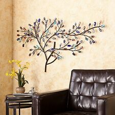 Southern Enterprises Brenchan Metal and Glass Tree Wall Sculpture WS9558 New