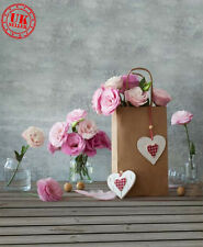 SALE LOVE HEART ROSE FLOWER GREY BABY BACKDROP VINYL PHOTO PROP 5X7FT 150X220CM
