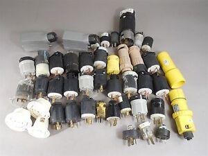 Mix Lot of 45 Hubbell, Arrow Hart Receptacles & Plugs