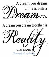 DREAM John Lennon Quote Cling Unmounted Rubber Stamp MAGENTA C07945-K NEW