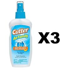 Cutter All Family Insect Repellent 6 Ounce Pump Spray 7% DEET Mosquitoes(3-Pack)