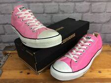 CONVERSE MENS UK 11 EU 45 CHUCK TAYLOR ALL STAR OX PINK CANVAS TRAINERS
