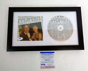 Lady Gaga Signed Autograph Cheek To Cheek CD Framed PSA/DNA COA