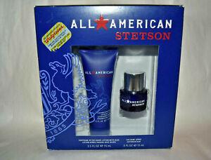 2 pc Set NIB Stetson TOM BRADY Cologne Spray .5 oz +After shave lotion w/ aloe