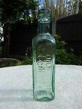 Antique British Vintage Green Glass Essence Coffee & Chicory Bottle Shieldhall