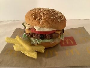 Realistic Fake / Faux Food  Prop Cheeseburger and Fries