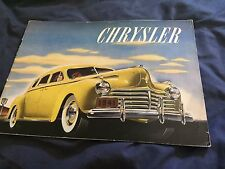 1941 Chrysler New Yorker Windsor Saratoga Royal Brochure Catalog Prospekt