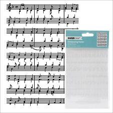 SHEET MUSIC embossing folder - Kaisercraft embossing folders EF242 All Occasion