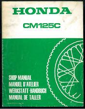 Revue d'Atelier complémentaire HONDA CM 125 C à partir de 1985 Manuel Technique